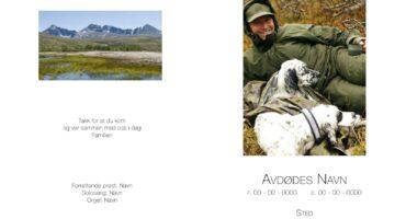 Akasien begravelsesbyrå eksempel programhefte egne bilder s1-4